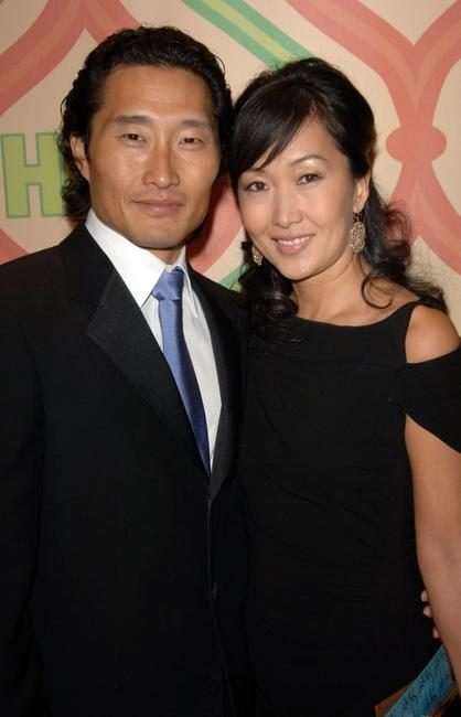Daniel Dae Kim and wife at the post Golden Globe after party.