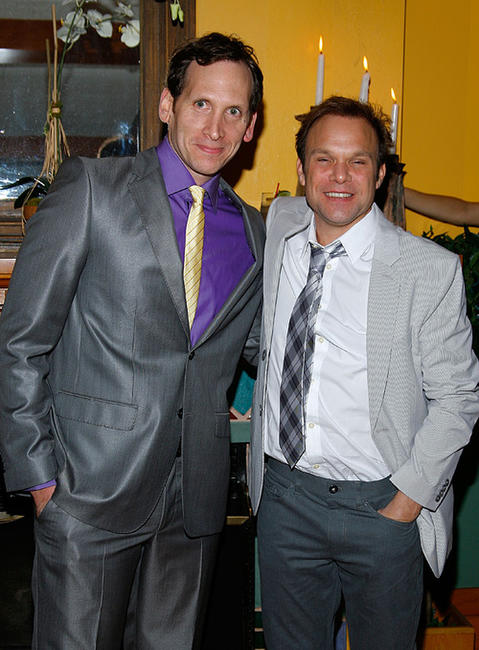 Stephen Kunken and Norbert Leo Butz at the after party of the Broadway Opening Night of