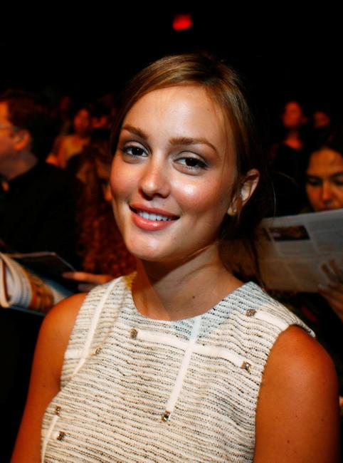 Leighton Meester at the 3.1 Phillip Lim Spring 2009 fashion show during the Mercedes-Benz Fashion Week.
