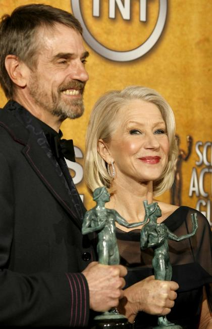 Jeremy Irons and Helen Mirren at the 13th Annual Screen Actors Guild Awards.