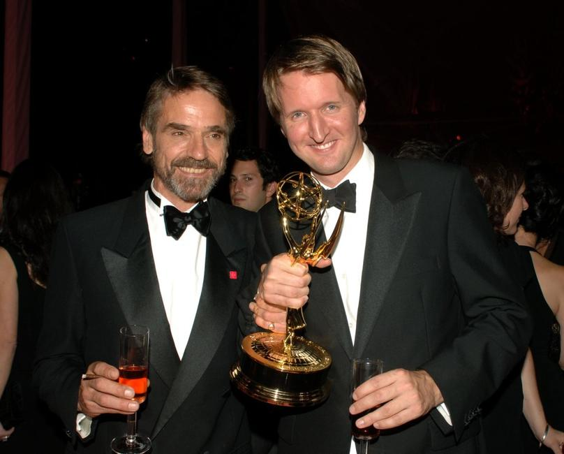 Jeremy Irons and Tom Hooper at the HBO Post Emmy Party.