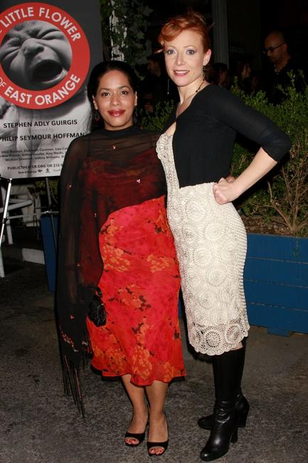 Liza Colon-Zayas and Elizabeth Canavan at the premiere of