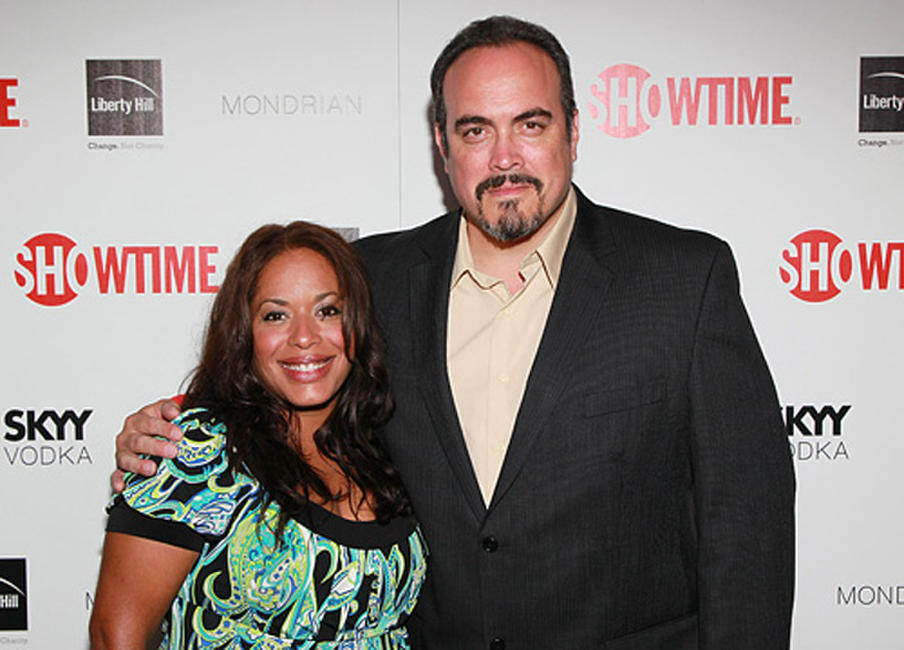 Liza Colon-Zayas and David Zayas at the 2010 Emmy nominee reception in California.