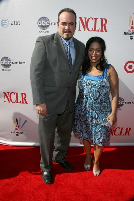David Zayas and Liza Colon-Zayas at the 2008 ALMA Awards.