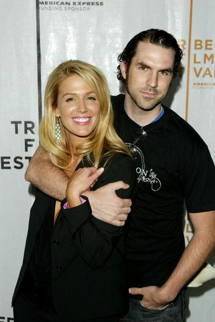 Poppy Montgomery and Paul Schneider at the premiere of