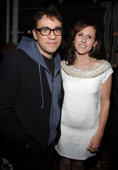 Fred Armisen and Molly Shannon at the after party of