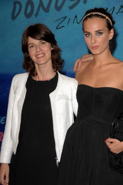 Irene Jacob and Sophie Auster at the 55th San Sebastian International Film Festival, attend the premiere of