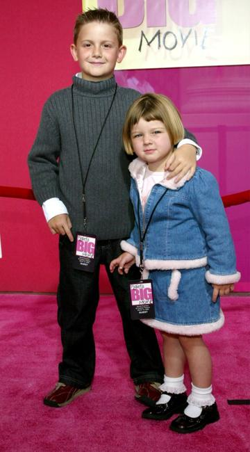 Austin Majors and his Sister at the premiere of