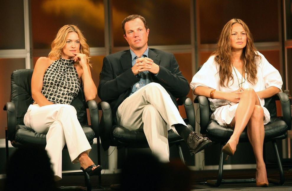 Adam Baldwin, Victoria Pratt and Moon Bloodgood at the 2006 Summer Television Critics Association Press Tour for The ABC Network.