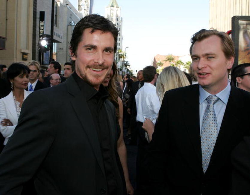 Christian Bale and Christopher Nolan at the