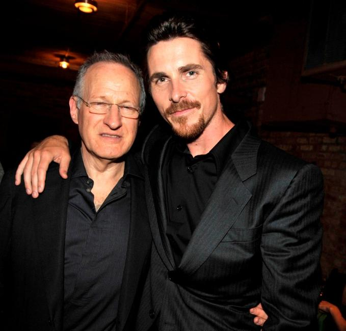 Director Michael Mann and Christian Bale at the after party of the Illinois premiere of
