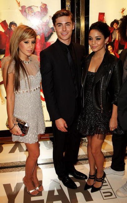 Ashley Tisdale, Zac Efron and Vanessa Hudgens at the UK premiere of