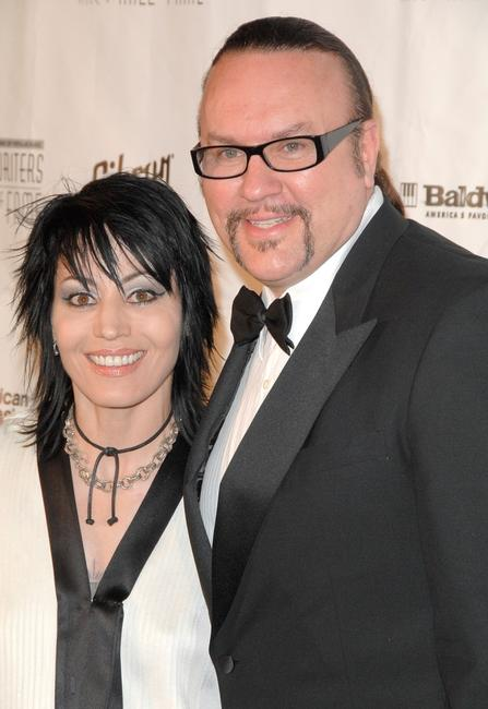 Joan Jett and Desmond Child at the 39th annual Songwriters Hall of Fame Awards Dinner.