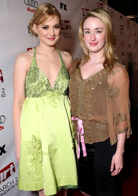 Alexandra Breckenridge and Ashley Johnson at the 2nd season premiere screening of