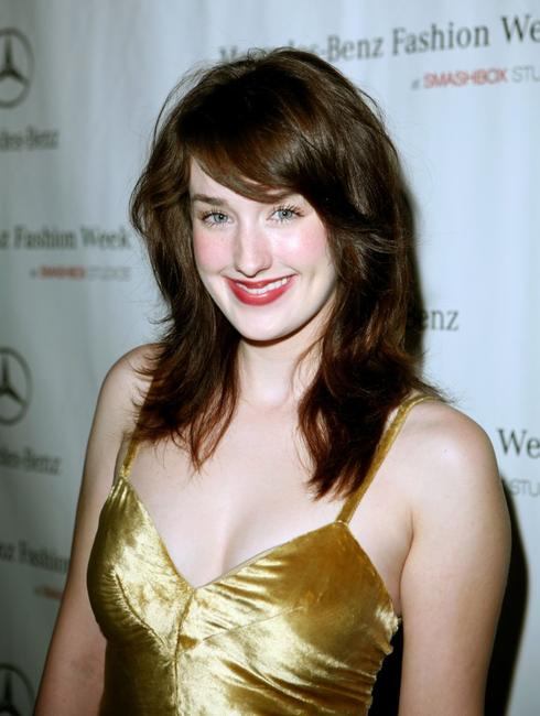 Ashley Johnson at the Mercedes Benz Fashion Week.
