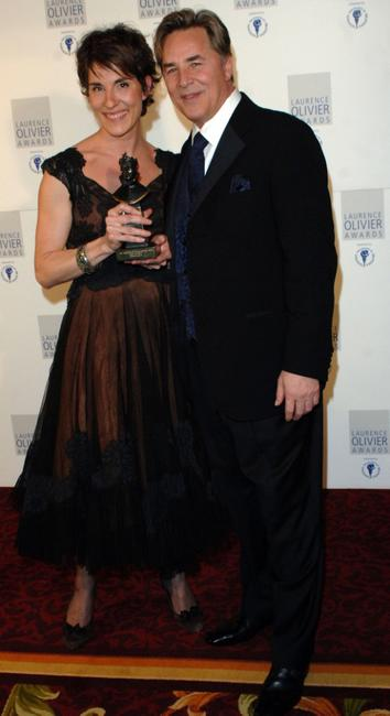 Tamsin Grieg and Don Johnson at the Lawrence Olivier Theatre Awards.