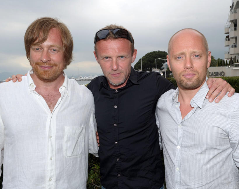 Morten Tyldum, Jo Nesbo and Aksel Hennie at the photocall of
