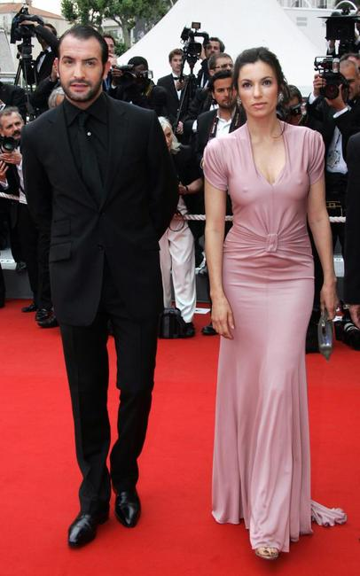 Jean Dujardin and Aure Atika at the premiere of