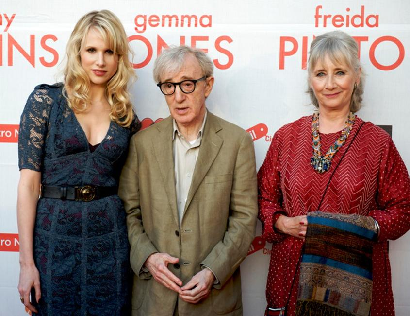 Lucy Punch, Woody Allen and Gemma Jones at the premiere of