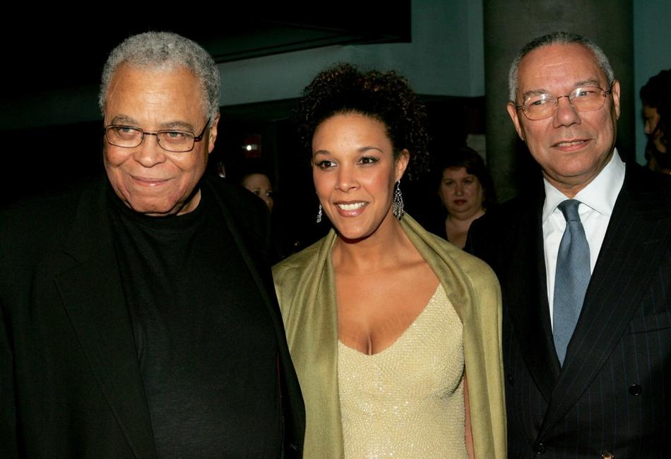 James Earl Jones, actress Linda Powell and her father former Secretary of State Colin Powell at the New York opening night of