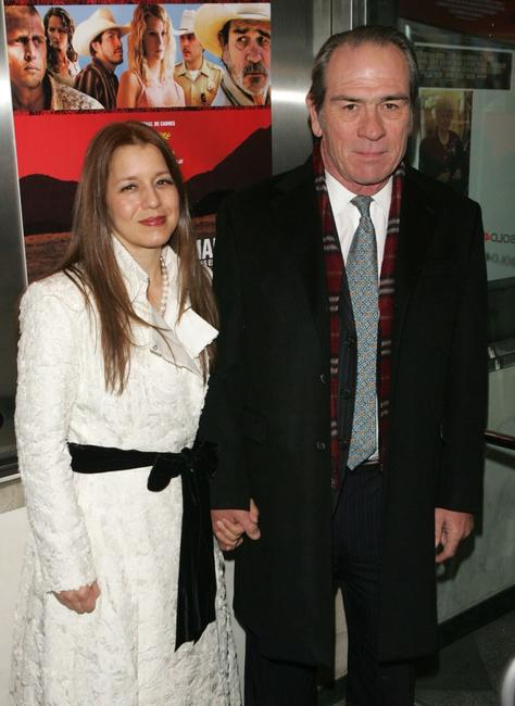 Tommy Lee Jones and his and wife at the premiere of