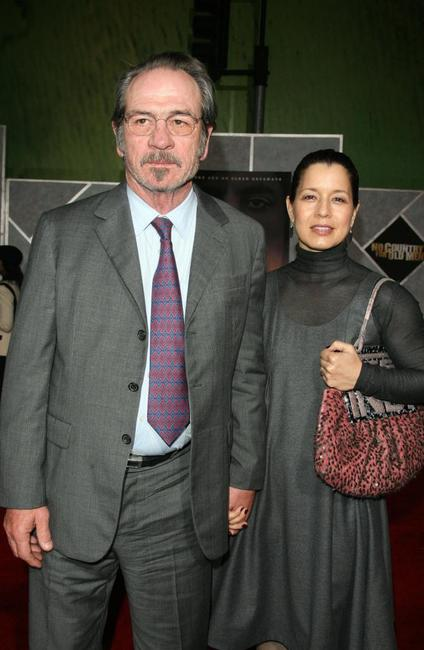Tommy Lee Jones and Dawn Jones at the premiere of
