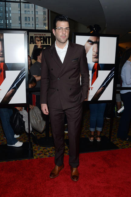Zachary Quinto at the New York premiere of