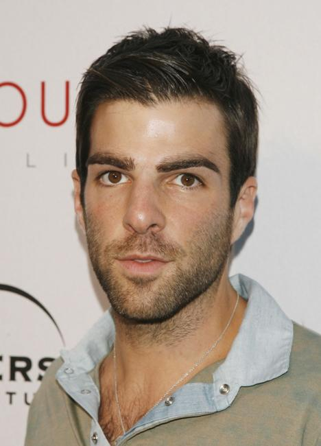 Zachary Quinto at the Universal Media Studios Emmy party.