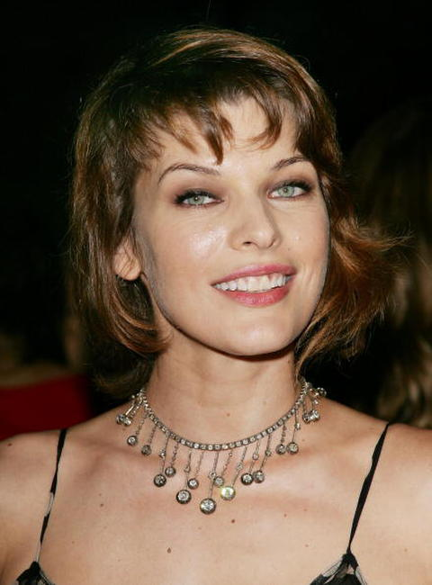 Milla Jovovich at the Loreal Legends Gala Benefit For Ovarian Cancer Research Fund.