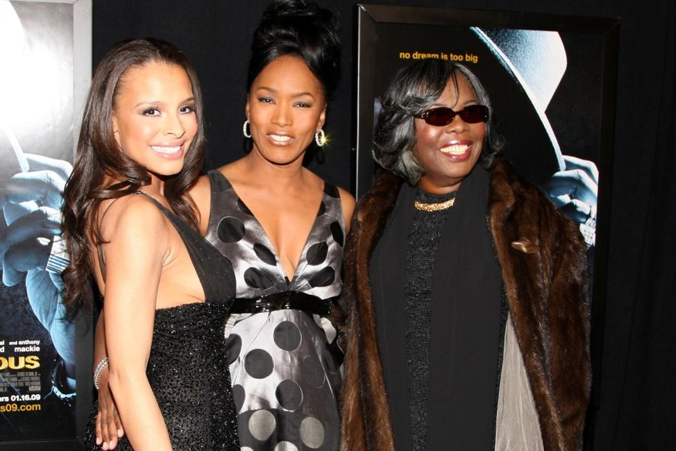 Antonique Smith, Angela Bassett and Voletta Wallace at the premiere of