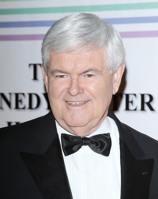 Newt Gingrich at the 34th Kennedy Center Honors.