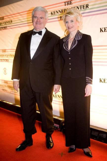 Newt Gingrich and Callista Gingrich at the 31st Kennedy Center Honors.