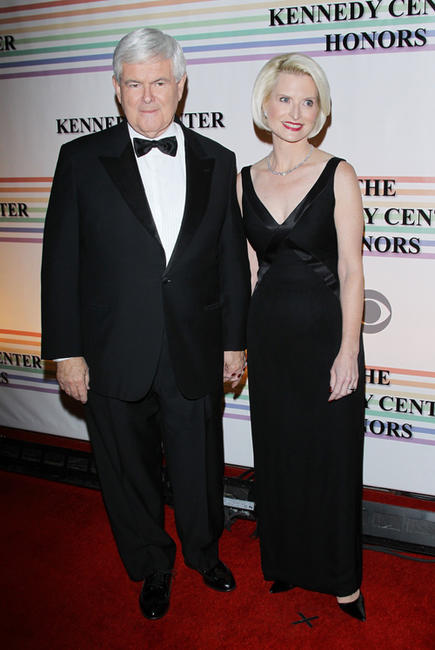 Newt Gingrich and Callista Gingrich at the 34th Kennedy Center Honors.