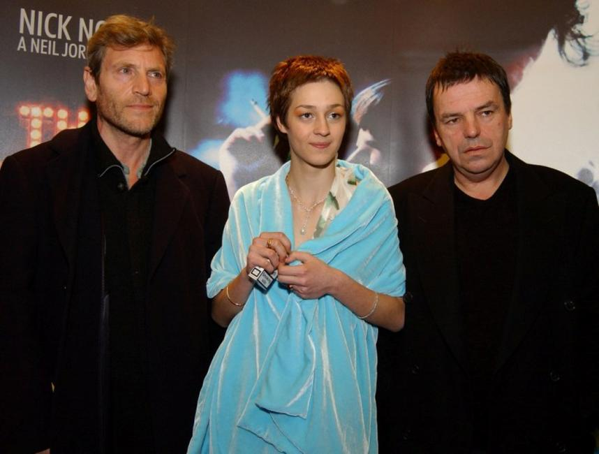 Tcheky Karyo, Nutsa Kukhiandize and Neil Jordan at the premiere of
