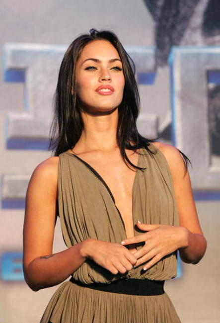 Actress Megan Fox at a photocall before the Sydney press conference for