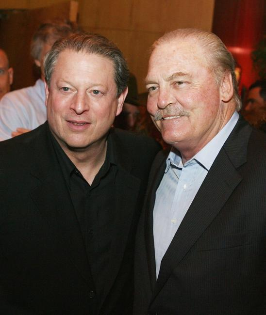 Al Gore and Stacy Keach at the after party of the premiere of