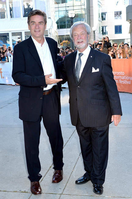 Peter Keleghan and Gordon Pinsent at the premiere of