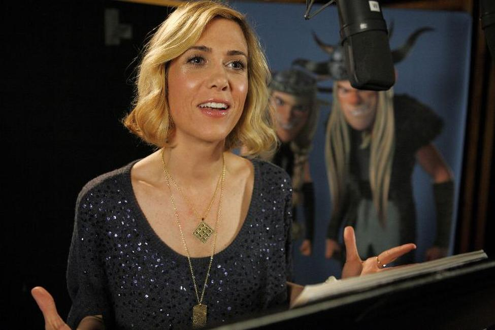 Kristen Wiig on the set of