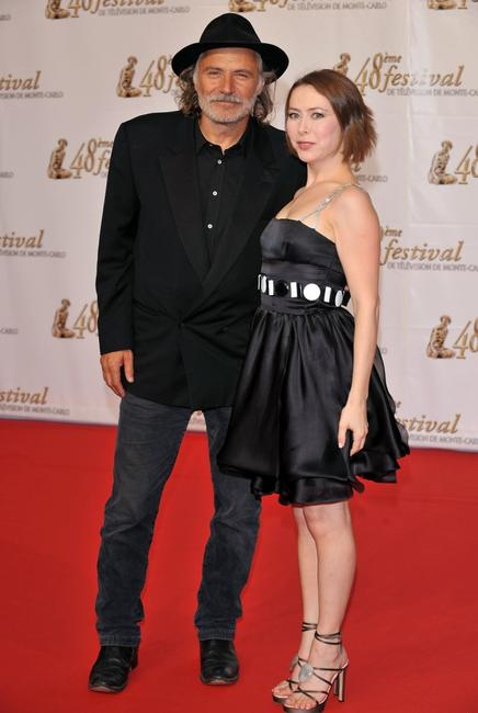 Rade Sherbedgia and Agata Gotova at the premiere of