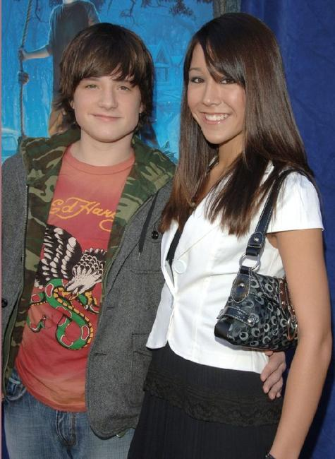 Josh Hutcherson and Shanon Wada at the premiere of