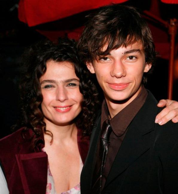 Arsinee Khanjian and Devon Bostick at the Sony Pictures Classics dinner during the 2008 Toronto International Film Festival.