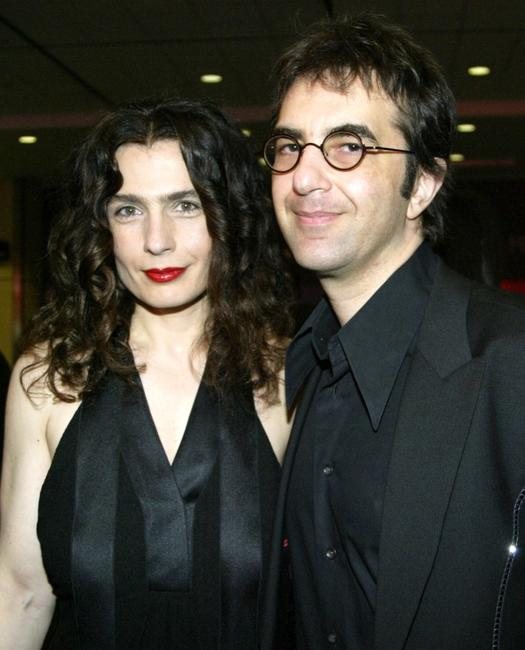 Arsinee Khanjian and her husband Atom Egoyan at the cocktail reception during the 24th Annual Genie Awards.