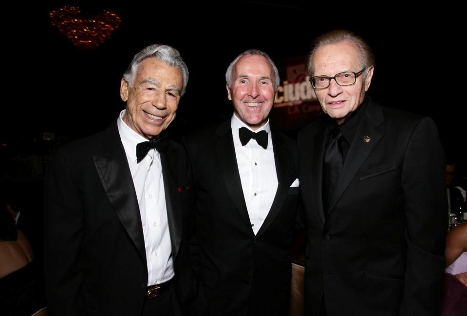 Kirk Krikorian, Frank McCourt and Larry King at the King of Hearts Gala.