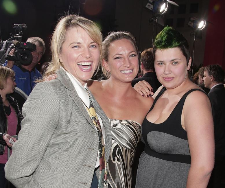 Lucy Lawless, Zoe Bell and Daisy Lawless at the premiere of