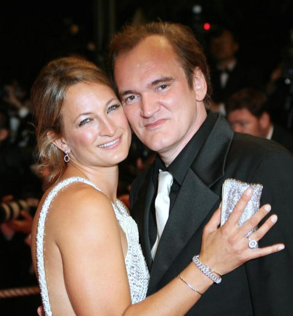 Zoe Bell and Director Quentin Tarantino at the screening of