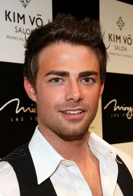 Jonathan Bennett at the grand opening of the Kim Vo Salon.