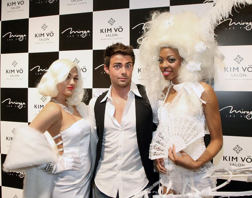 Christina Virzi, Jonathan Bennett and Trisha Thompson at the grand opening of the Kim Vo Salon.