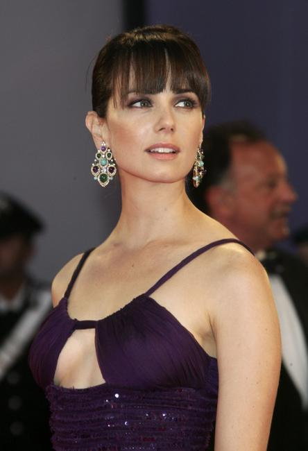 Mia Kirshner at the opening ceremony and