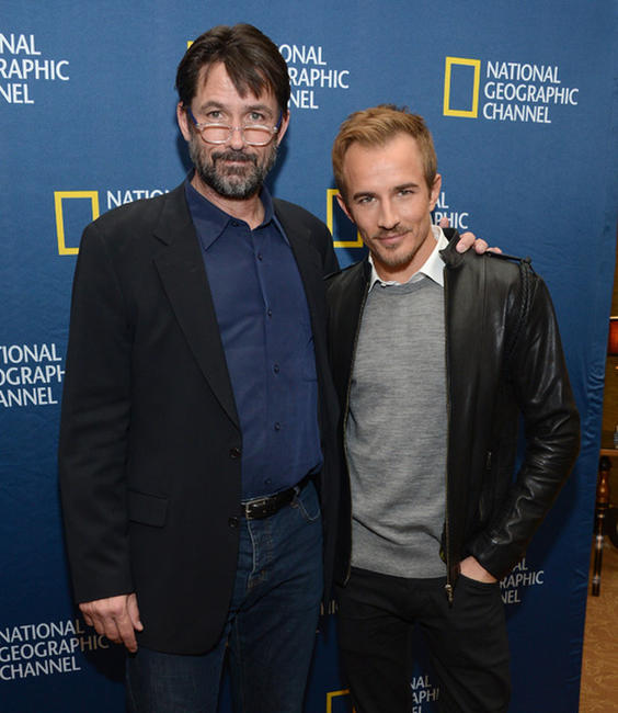 Billy Campbell and Jesse Johnson at the National Geographic Channels'