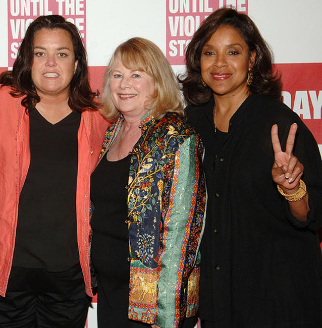 Rosie O'Donnell, Shirley Knight and Phylicia Rashad at the V-Day Presentation of Any One Of Us: Words From Prison in New York.